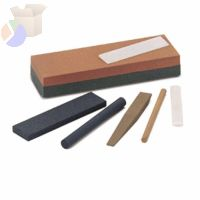 Combination Grit Abrasive Sharpening Benchstones, 6X2X1, Medium/Fine, Crystolon