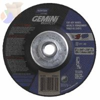 Gemini Right Cut Depressed Center Wheel, 5 in Thick, Aluminum Oxide