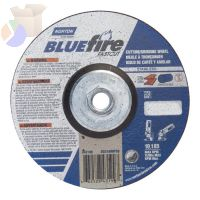"BlueFire Depressed Center Wheels, 6"" Dia, 5/8"" Arbor, 1/8"" Thick, 24 Grit"