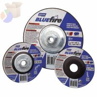 "BlueFire Depressed Center Wheels, 6"" Dia, 7/8"" Arbor, 1/4"" Thick, 24 Grit"