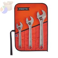 PROTO Three-Piece Adjustable Wrench Set