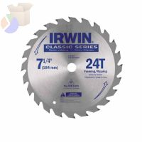 Carbide-Tipped Circular Saw Blades, 7 1/4 in, 24 Teeth