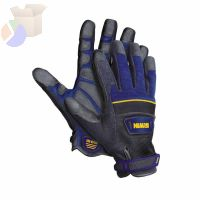 Heavy Duty Jobsite Gloves, Black/Blue, Large