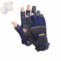 Carpenter Gloves, Black/Blue, Large