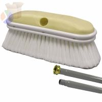 Truck Wash Brush, 9.5in Foam Block, 2.5in Trim L, Flagged WH Polystyrene, 12 Kit