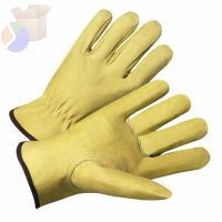 4000 Series Pigskin Leather Driver Gloves, Medium, Unlined, Tan
