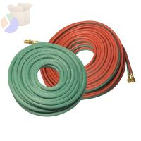 Welding Hose Assembly, Grade T, 12 ft Length, Twin Line, 3/8 in, BB Fitting