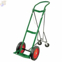 Retractable Single-Cylinder Medical Carts, 10 in Rubber/Steel Rim Wheels
