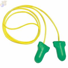 Max Lite Disposable Earplugs, Foam, Green, Corded