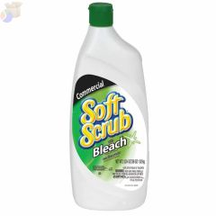 Soft Scrub Liquid Cleanser w/Bleach Disinfectant, 24 oz Bottle