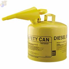 Type l Safety Cans, Diesel, 5 gal, Yellow, Funnel
