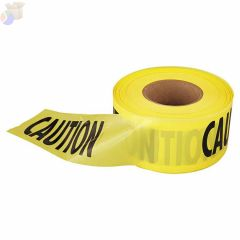 Safety Barricade Tape, 3 in x 1,000 ft, Yellow, Caution