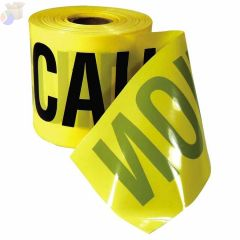 Safety Barricade Tape, 3 in x 200 ft, Yellow, Caution