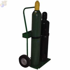 "800 Series Carts, Holds 2 Cylinders, 8""-9 1/2"" dia., 10""Semi-Pneumatic Wheels"