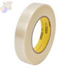 Scotch Filament Tape 8915, 0.47 in x 60 yd, 170 lb/in Strength