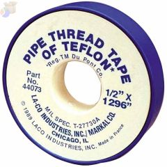 PTFE Pipe Thread Tapes, 260 in L X 1/2 in W