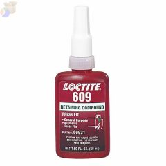 609 Retaining Compound, General Purpose, 50 mL Bottle, Green, 3,000 psi