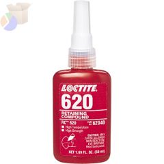 620 Retaining Compound, High Temperature, 50 mL Bottle, Green, 3,800 psi
