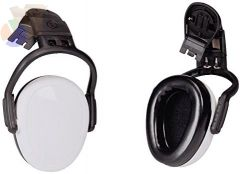 left/RIGHT Earmuffs, 21 dB NRR, White, Helmet