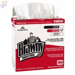 Brawny Industrial  Medium-Duty Wipers, Box, White