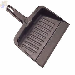 Dust Pans, 8 1/4 in x 12 1/4 in, Plastic, Charcoal