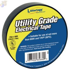 General Purpose Vinyl Electrical Tape, 60 ft x 3/4 in, Black