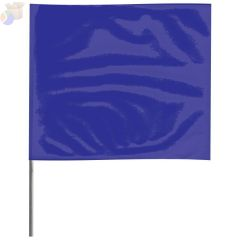 Stake Flags, 2 in x 3 in, 21 in Height, PVC; Steel Wire, Blue