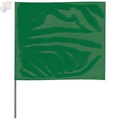 Stake Flags, 2 in x 3 in, 21 in Height, PVC Film, Green