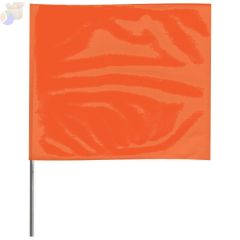 Stake Flags, 2 in x 3 in, 21 in Height, PVC; Steel Wire, Orange Glo